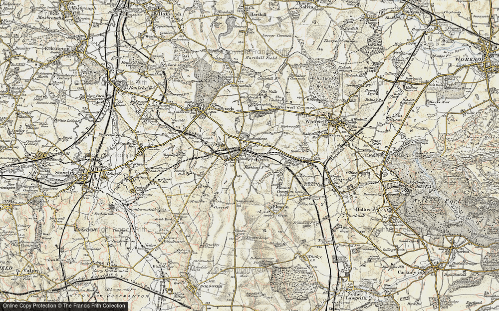 Old Map of Clowne, 1902-1903 in 1902-1903