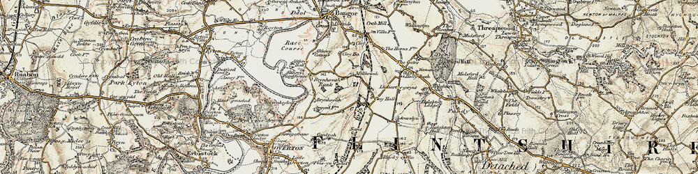 Old map of Adra-felin in 1902