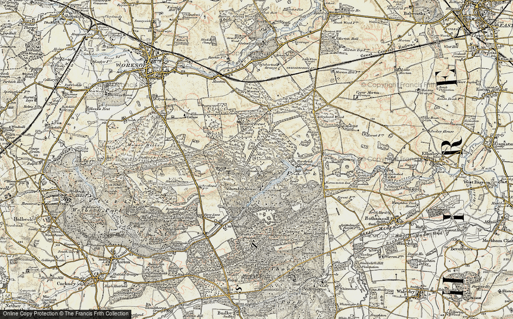 Old Map of Clumber Park, 1902-1903 in 1902-1903