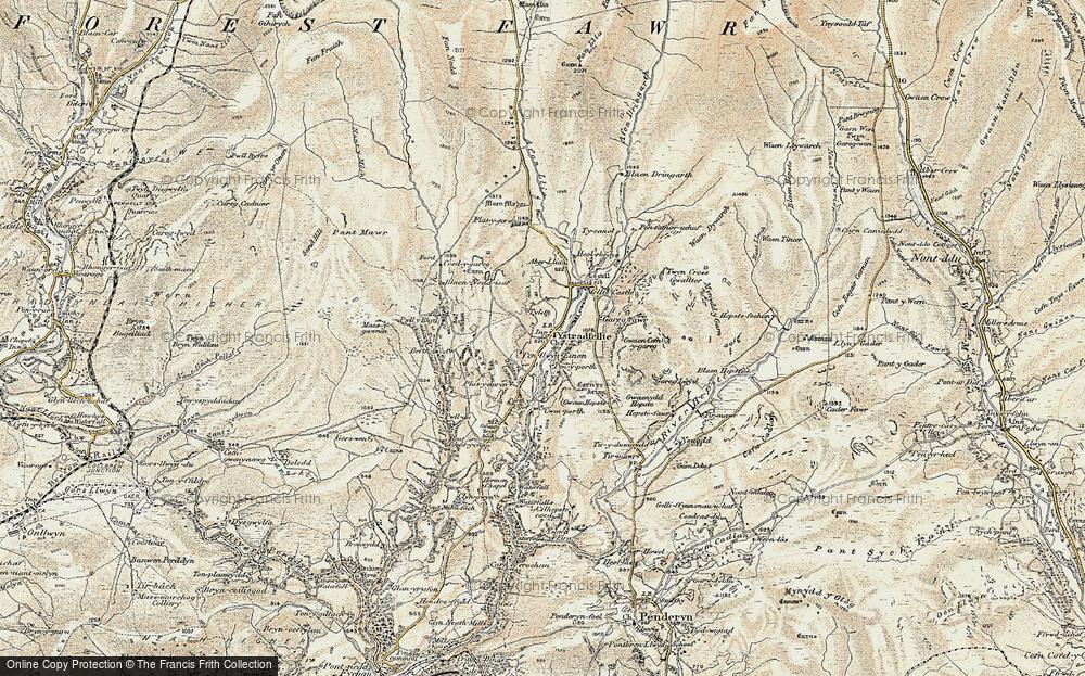 Clungwyn Falls, 1900