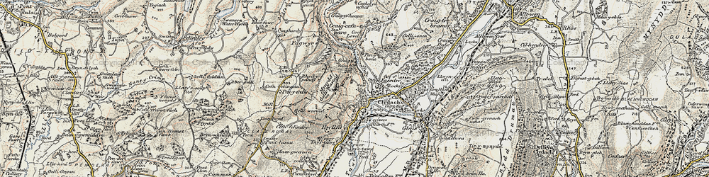 Old map of Clydach in 1900-1901