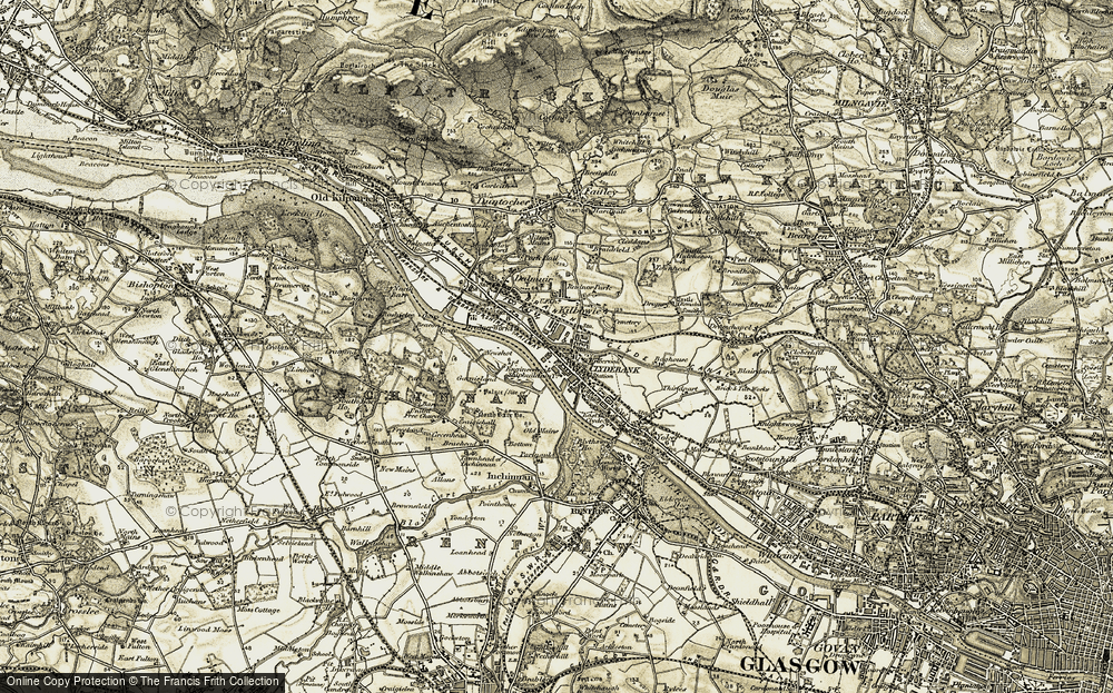 Old Map of Clydebank, 1905 in 1905