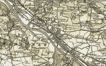 Old map of Clydebank in 1905
