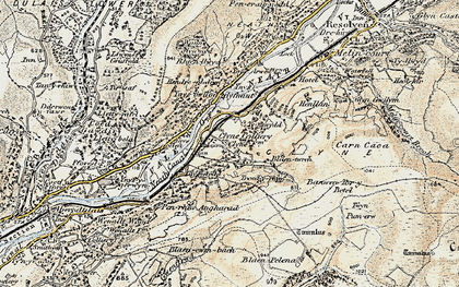Old map of Banwen Torybetel in 1900-1901