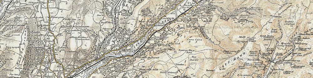 Old map of Ynys-dwfnant in 1900-1901