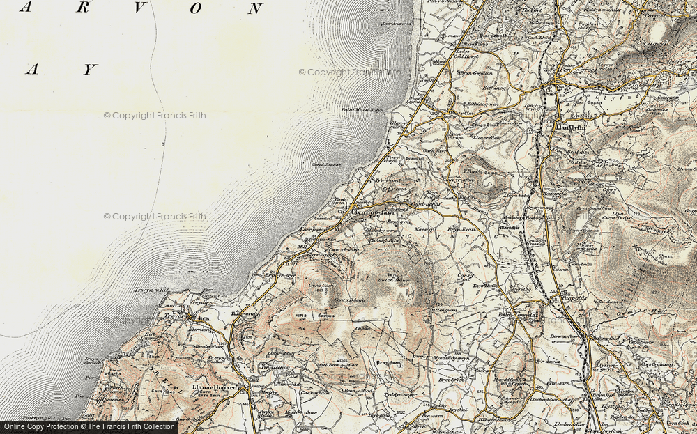 Old Map of Historic Map covering Bach Wen in 1903