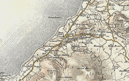 Old map of Yr Allt in 1903