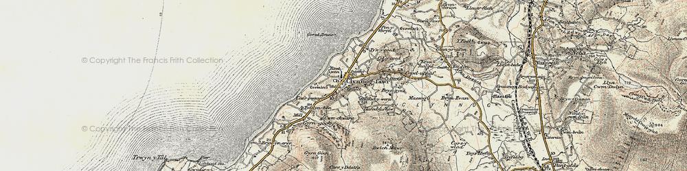 Old map of Clynnog-fawr in 1903