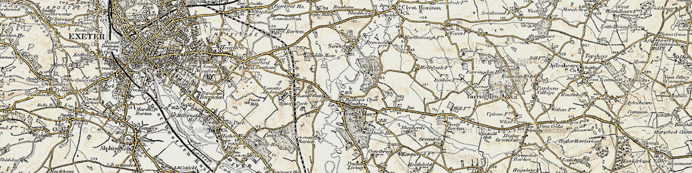 Old map of Winslade Park in 1899