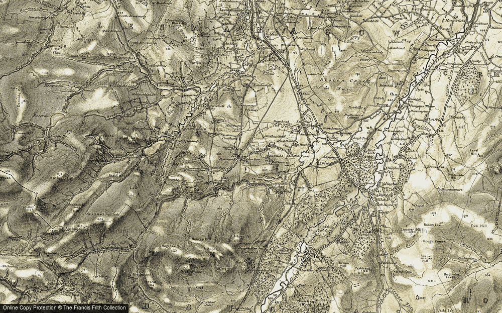 Old Map of Historic Map covering Bankend in 1904-1905