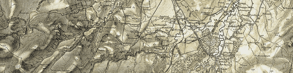 Old map of West Toun in 1904-1905