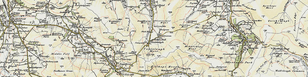 Old map of Allendale Common in 1901-1904