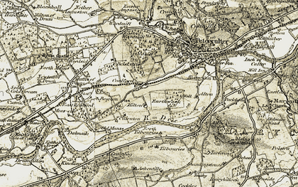 Old map of Tilbouries in 1908-1909