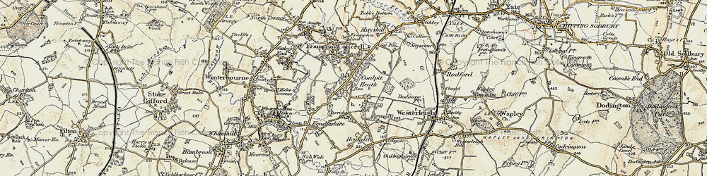 Old map of Coalpit Heath in 1899