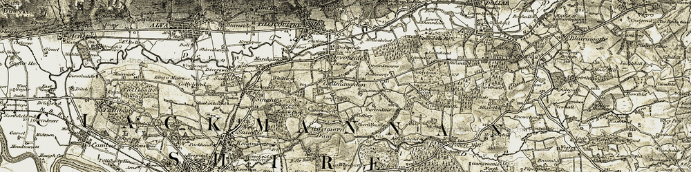Old map of Aberdona Ho in 1904-1908