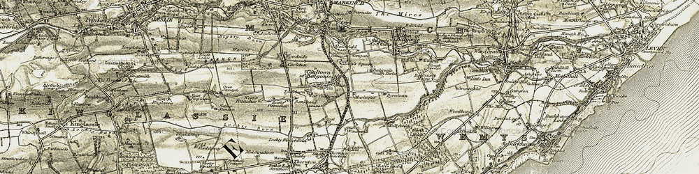 Old map of Westgate in 1903-1908