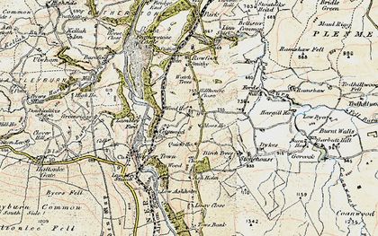 Old map of Ashholme in 1901-1904