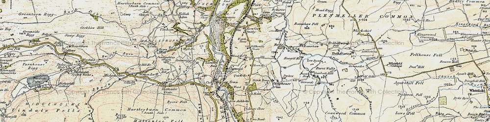 Old map of Wood Houses in 1901-1904