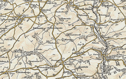 Old map of Whetcombe in 1899