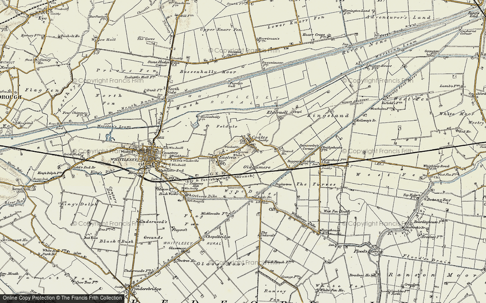 Old Map of Coates, 1901-1902 in 1901-1902