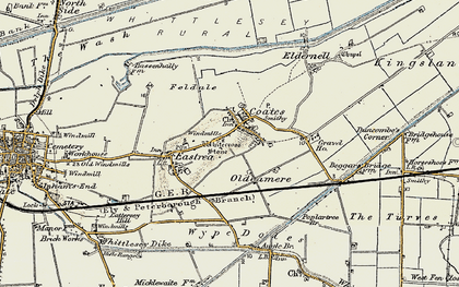 Old map of Wype Doles in 1901-1902