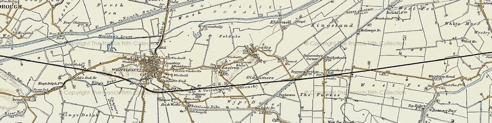 Old map of Whitecross Stone in 1901-1902