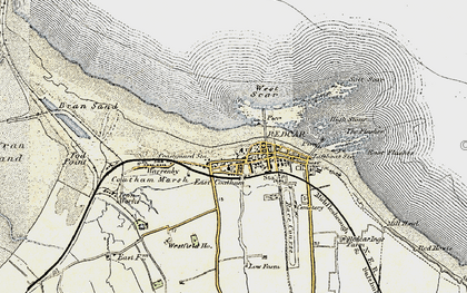 Old map of West Scar in 1903-1904
