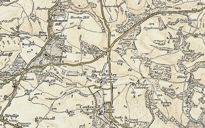 Old map of Coberley in 1898-1900