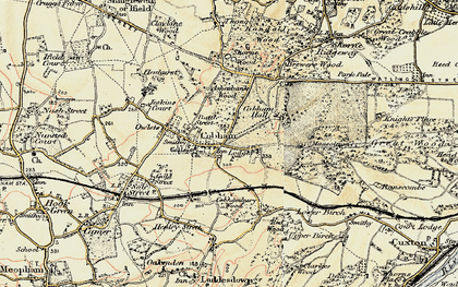 Old map of Cobham in 1897-1898