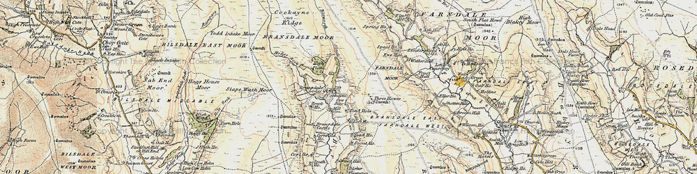 Old map of Toad Hole in 1903-1904
