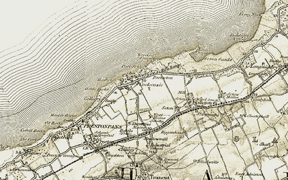Old map of Wrecked Craigs in 1903-1906