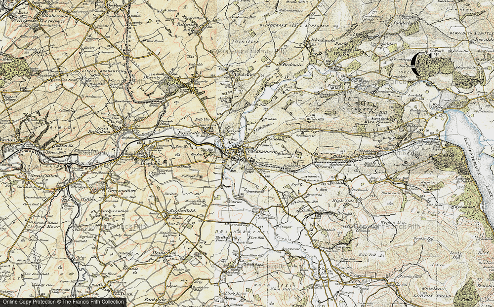 Old Map of Cockermouth, 1901-1904 in 1901-1904