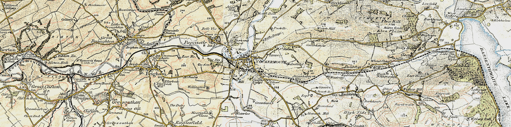 Old map of Wyndham Ho in 1901-1904
