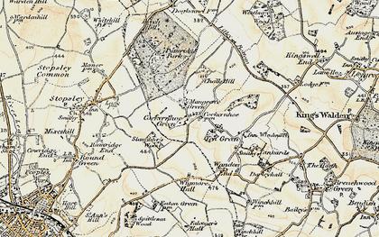 Old map of Cockernhoe in 1898-1899