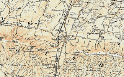 Old map of Cocking in 1897-1900