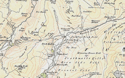 Old map of Wrynose Breast in 1903-1904
