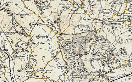 Old map of Banses Wood in 1900