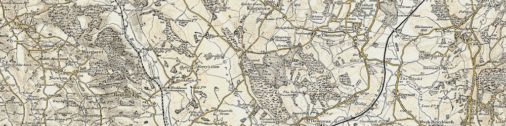 Old map of Whitfield in 1900