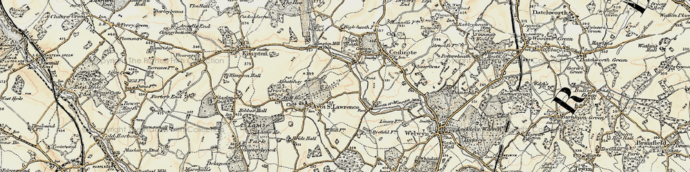 Old map of Abbotshay in 1898-1899