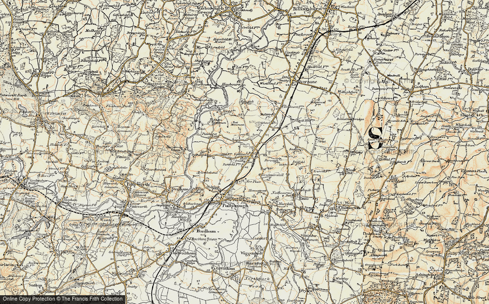 Old Map of Historic Map covering Toat Monument in 1897-1900