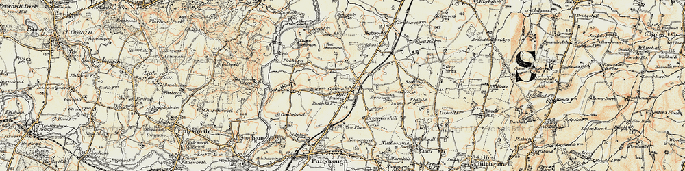 Old map of Toat Monument in 1897-1900