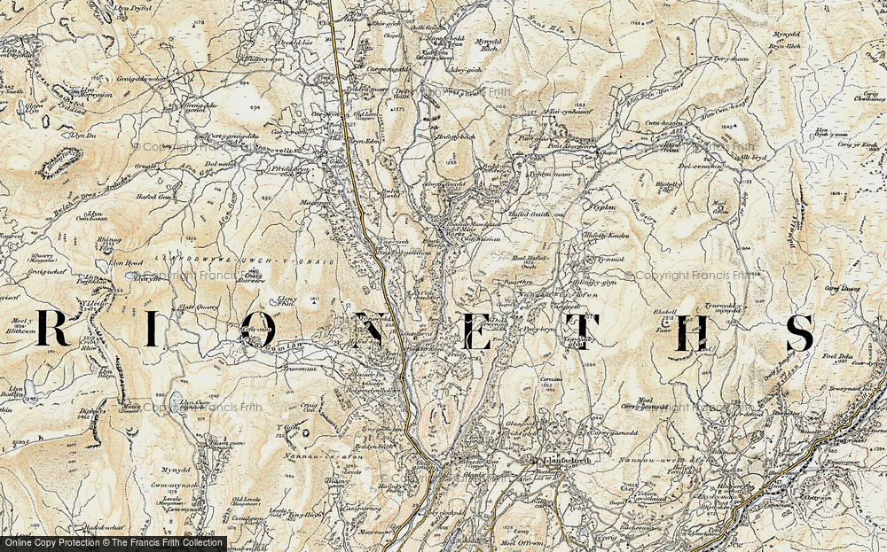 Old Map of Historic Map covering Afon Serw in 1903