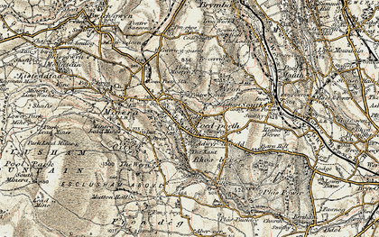 Old map of Coedpoeth in 1902-1903