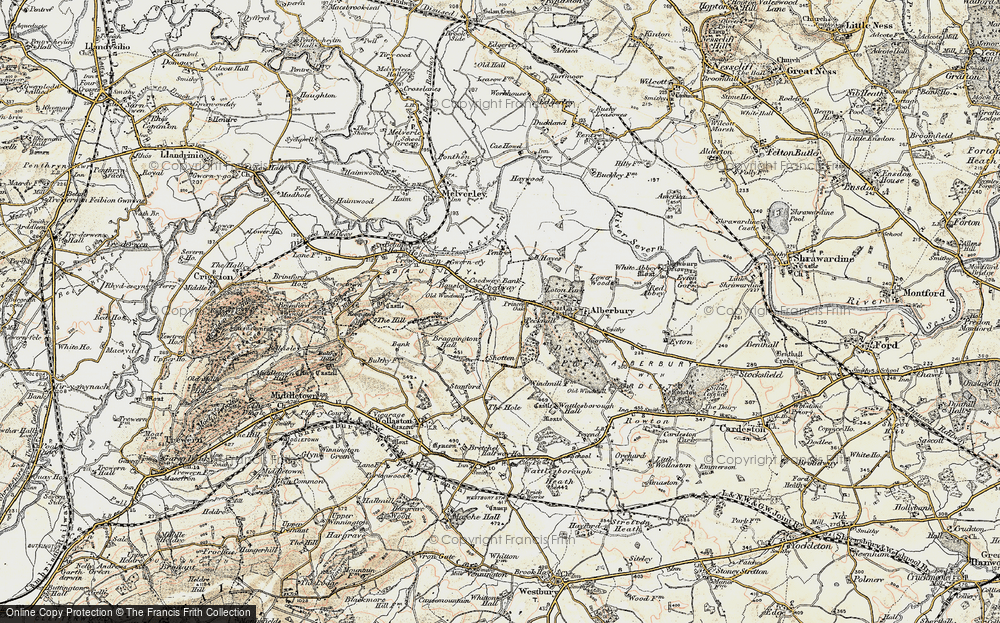 Old Map of Historic Map covering Alberbury Castle in 1902