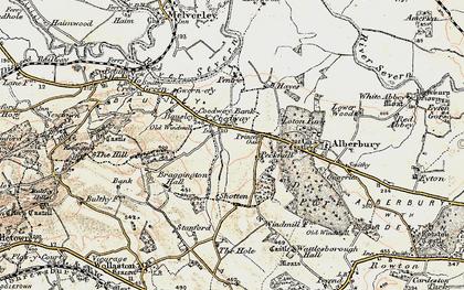 Old map of Alberbury Castle in 1902