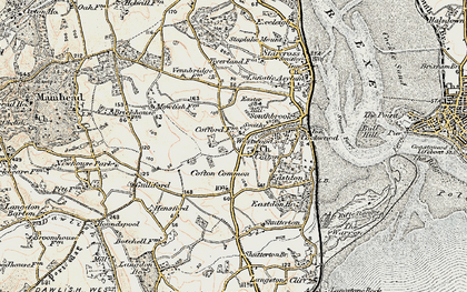 Old map of Cofton in 1899