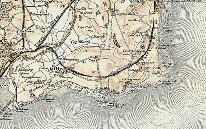 Old map of Cog in 1899-1900