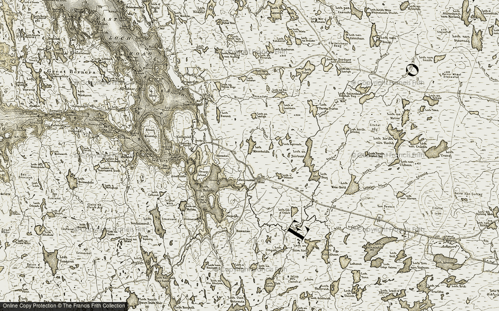Old Map of Historic Map covering Allt a' Chapuill in 1911
