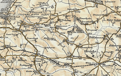 Old map of Colan in 1900