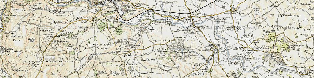 Old map of Colburn in 1903-1904